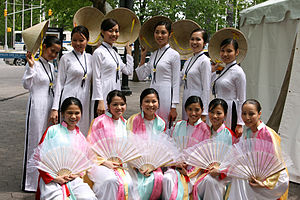 Group of Asian women