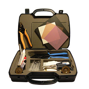 English: Kit de trabajo, para fibra optica