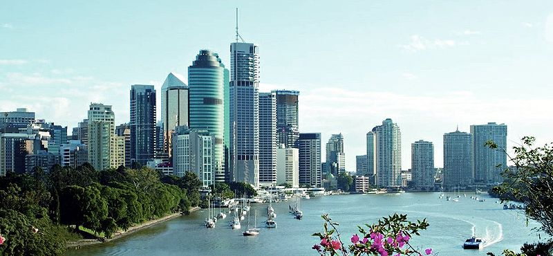 File:Brisbane skyline bluesky.jpg