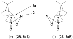 two optical isomers of camphorsulfonyl oxaziridine
