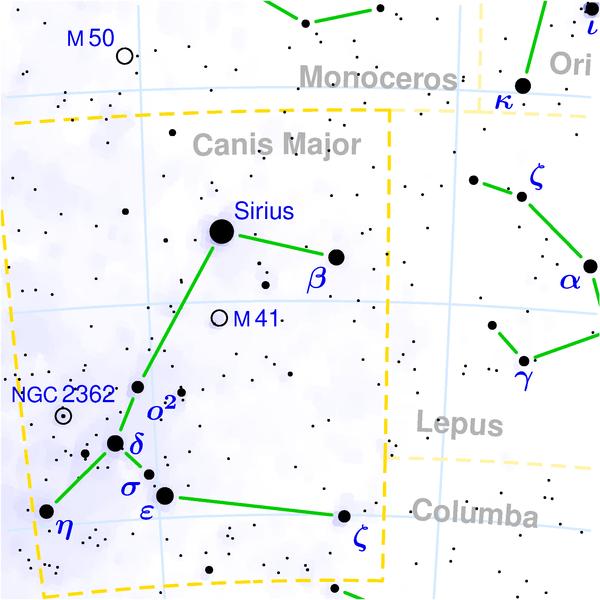 Sirius, Bintang Paling Terang di Malam Hari (2/5)