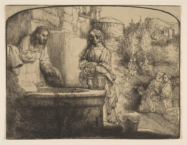 Christ and the Woman of Samaria- an Arched Print MET DP814962