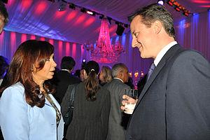 English: Argentine President Cristina Fernánde...