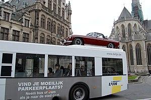 Bus company De Lijn in Belgium promotes public...