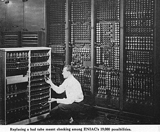 ENIAC-changing a tube