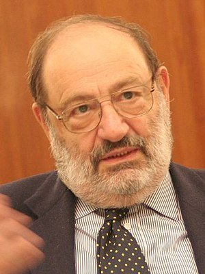 Image of Italian writer, Umberto Eco.