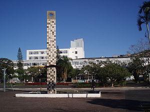 Vue de la place centrale de l'Université fédér...