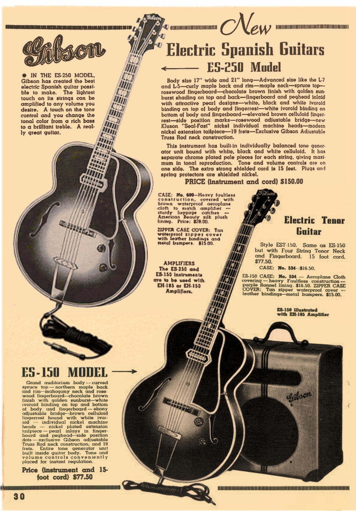 speaker amp wiring diagram trail tech vector gibson es-150 - wikipedia