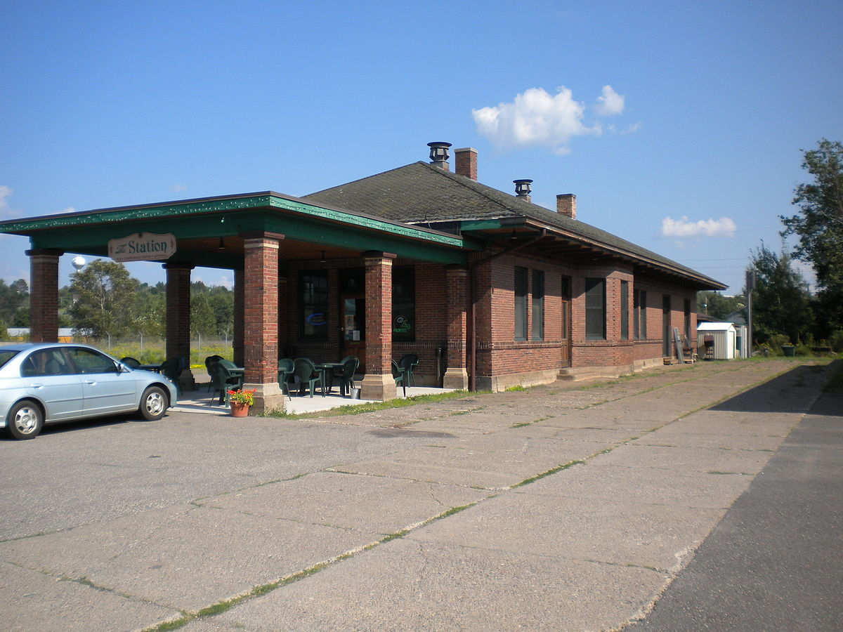 Chicago Milwaukee and Saint Paul Railway Iron River Depot