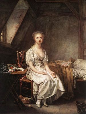 Jean-Baptiste Greuze - The Complain of the Wat...