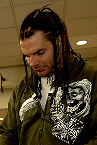Jeff Hardy during an autograph signing session