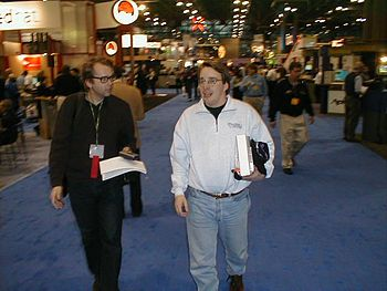 Linus Torvalds at Linuxworld 2000 in NewYork C...