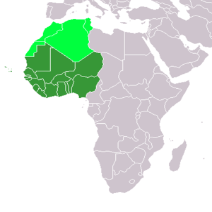 Western Africa (UN subregion) Maghreb, a separ...