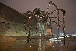 The spider sculpture Maman by Louise Bourgeois...