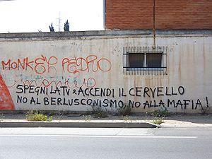 No al berlusconismo.