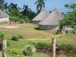 Reconstruction of Taino village