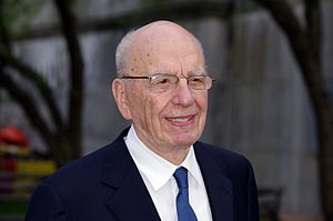 English: Rupert Murdoch and Wendi Murdoch at t...