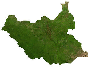 English: Satellite image of South Sudan, from ...