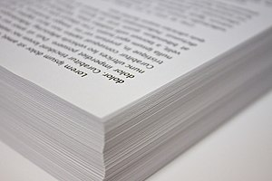 A stack of copy paper.