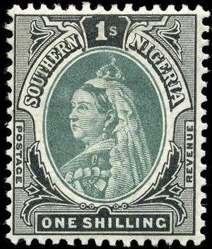 Queen Victoria on a Southern Nigeria Protector...