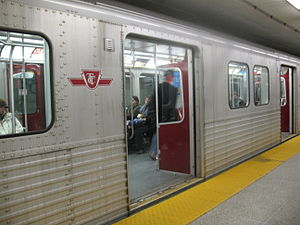 T1 TTC subway car parked in St. George subway ...