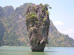 """""""James Bond Island"""", in Phang Nga Ba..."""