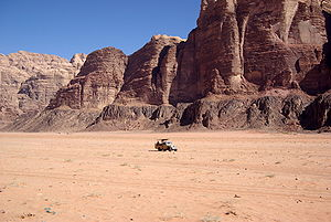 English: Wadi Rum Deutsch: Wadi Ram