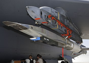 English: The X-51A WaveRider hypersonic flight...