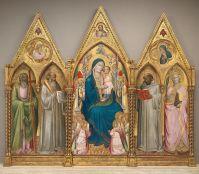 File:Agnolo gaddi, madonna in trono tra santi e angeli ...