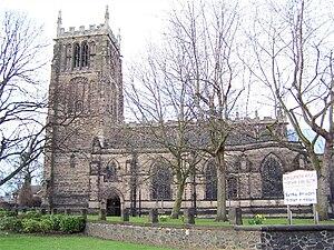 English: All Saints Church, Loughborough taken...