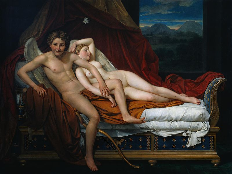 Jacques-Louis David, Eros i Psyche, 1817