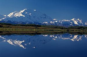 Denali (Mt. McKinley) from Reflection Pond in ...