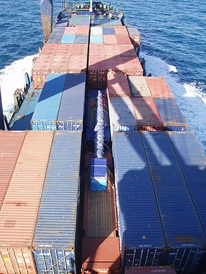 "English: ""Break bulk cargo as protected stowag..."