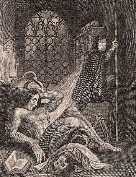 Victor Frankenstein se détourne de sa création