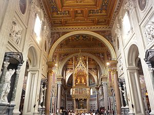 English: Inside the Basilica of St. John Later...