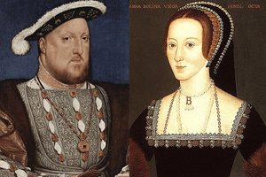 Henry VIII and his second wife, Anne Boleyn.
