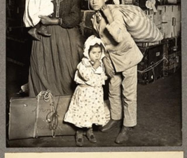 Italian Immigrants Entering The United States Via Ellis Island In