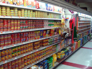 A supermarket's pet food aisle in Brooklyn, Ne...