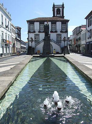 English: Ponta Delgada, Sao-Miguel, Azores, Po...