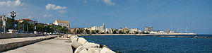 English: Bari, Apulia, Italy. View of the east...