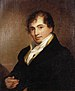 English: Robert Fulton, holding a watch fob in...