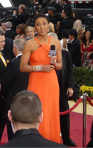 English: Robin Roberts, newscaster on ABC at 8...
