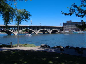 Jefferson Street Bridge in Rockford, Illinois,...