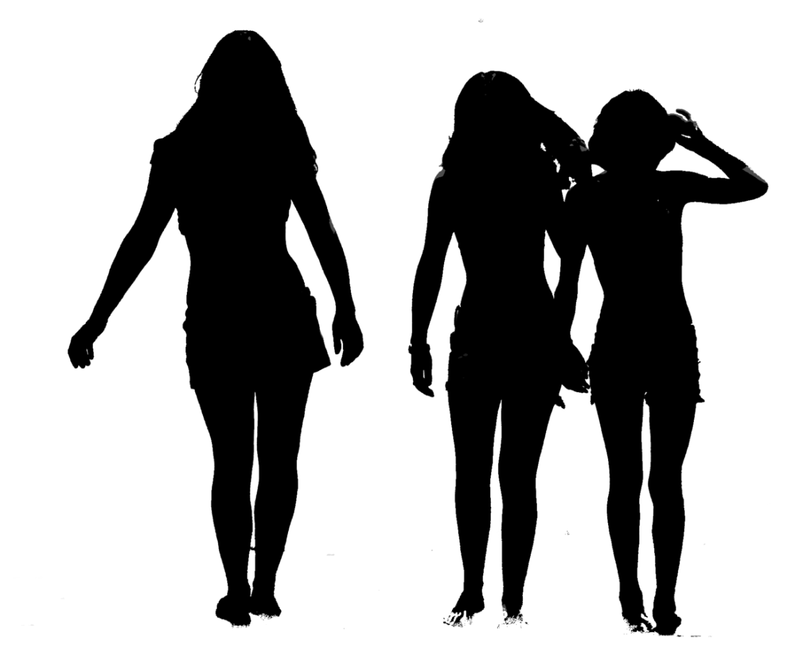 1242px Silhouette of Trio Fashion Silhouette