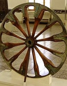 spoked wheel on display at the national museum of iran in tehran is dated to late nd millennium bce and was excavated choqa zanbil also wikipedia rh enpedia