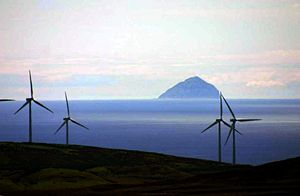 English: View from windfarm towards Clyde's be...