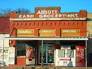 The Abbott grocery store. Hill County, Texas