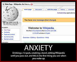 English: Anxiety meme