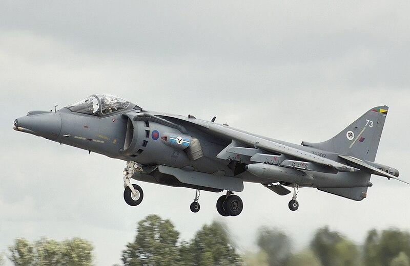 File:BAe Harrier GR9 ZG502 landing arp.jpg