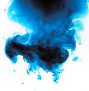 English: Ink on a wet background